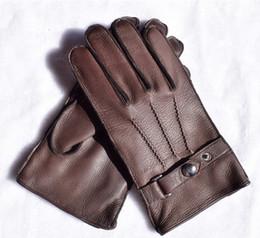 $enCountryForm.capitalKeyWord Australia - 2018 TOP Quanlity New Arrival Luxury Men's Deerskin Leather Gloves (Cashmere Wool Fleece Lining)