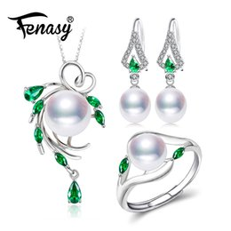 e3c987d39ac1 FENASY 925 juegos de joyas de plata esterlina para mujeres