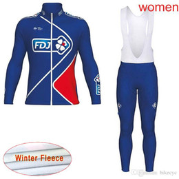 FDJ team Cycling Winter Thermal Fleece jersey (bib) pants sets women Keep  warm Mountain Bike high quality Quick Dry Ropa Ciclismo C2107 4a5bc5e23