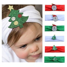kids hair pieces accessories 2019 - 1pc Fashion Hot children kids Baby girls Headband Christmas Tree Santa Claus Headwear Hair Band Head Piece Accessories d