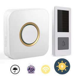 China Wireless Doorbell Solar Powered Push Wireless Doorbell Button Waterproof Outdoor Wifi Door Bell with 52 Tunes Chimes suppliers