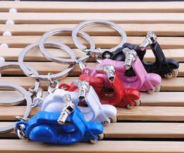 Free Models Cute NZ - Free Shipping Cute Zinc Alloy Mini Scooter Model Keychain Metal Motor Keyrings key ring