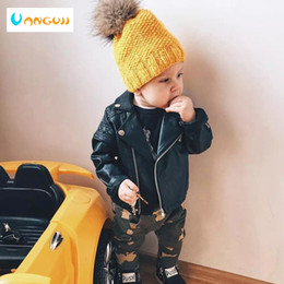 $enCountryForm.capitalKeyWord Canada - Boys PU jacket Spring Autumn children's Motorcycle leather 1-7 years old fashion color diamond quilted zipper girls coat cool