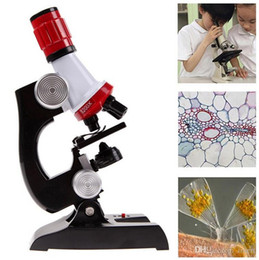 Discount microscope kids 2017 new Microscope Kit Lab 100X-1200X Home School Educational Tools Toy For Kids Magnifier best Christmas gift