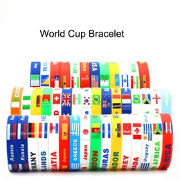 sports world 2019 - 2018 Russia World Cup sports bracelets Many countries national flags silicone Wristband For Football soccer Fans Souveni