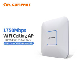 Wholesale 4pcs DHL COMFAST CF E380AC M High Power Dual band Router Indoor Ceiling Wireless WiFi AP Access Point Repeater Wi fi Access