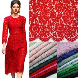 AfricAn fAbric for wedding dresses online shopping - 1 M Lash Embroidery Lace Fabrics Cotton Cord French Lace Fabric Guipure Nigeria African Lace For Wedding Dress