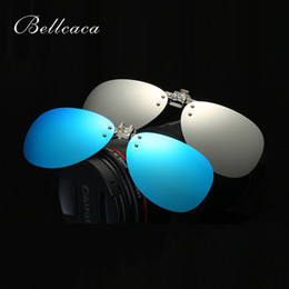 79f5d2d575 Bellcaca Polarized Pilot Sunglasses Clip On Sun glasses Men Women Safety  Driving Night Vision Lenses Driver UV400 Shades BC616 pilot clip sunglasses  for ...