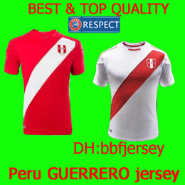 8115627bf Thailand football jerseys 2018 national soccer jersey custom name peru  jersey GUERRERO jersey FARFAN FLORES world cup 2018 football shirts