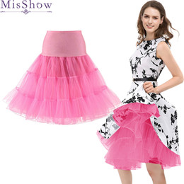 China Top Sale Tulle Skirts Womens Fashion High Waist Pleated Tutu Skirt Vintage 50s Petticoat Crinoline Underskirt Faldas Women Skirt supplier wholesale petticoat skirt suppliers