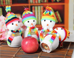 Big Christmas Gift Boxes NZ - Christmas Eve Snowman Apple Bag Christmas Gifts Bag Apple Packing Bag Gifts Box Snowman Doll Christmas Eve Apple Holeder