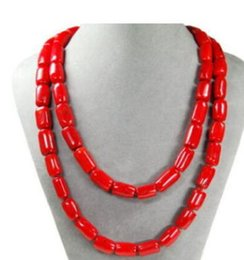 made coral necklace Canada - NEW Beautiful necklace made of corals in cylinder form 50''