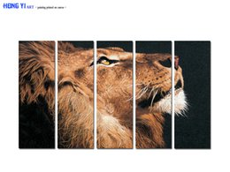 Digital Art For Sale NZ - Large Contemporary Hot Sale Art Wall Animal Lion Head oil painting Picture Printed on canvas for Living Room Bedroom Home Decor Aset175