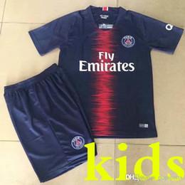 8efd60d9c Kids 18 19 DANI ALVES MBAPPE JR 10 soccer jerseys 2018 2019 CAVANI football  shirt VERRATTI Camiseta DI MARIA DRAXLER child boy maillot