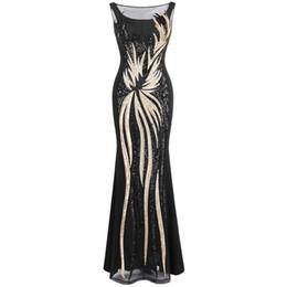 ae9c317d623 Angels Prom Dresses UK - Angel-fashions Women s Sheer Gold Sequined Black  Splicing Sheath Evening