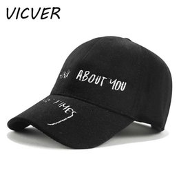 $enCountryForm.capitalKeyWord Australia - Fashion Embroidery Letter I Think About You Sometime Baseball Cap Snapback Hats For Men Women Casual Boys Girl Solid Hip Hop Cap