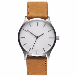 Chinese  2018 Big Dial Watches For Men Hour Mens Watches Top Brand Luxury Quartz Watch Man Leather Sport Wrist Watch Clock relogio saat manufacturers