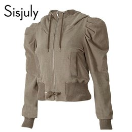 brown outerwear NZ - Sisjuly Jacket Coat Women Autumn Slim Hooded Coat Brown Solid Female Causal Outerwear Fall Streetwear Daily Work Jacket Coats
