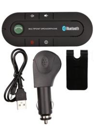 Venta al por mayor de Venta caliente inalámbrico Bluetooth manos libres Kit de coche Reproductor de música MP3 Súper altavoz Android 4.1 para teléfono móvil Dual Phone Connect