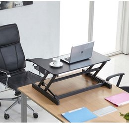 Wholesale DL T100 S height adjustable Gas Spring Screen Desktop Monitor Mount Sit Stand Workstation with Keyboard Tray