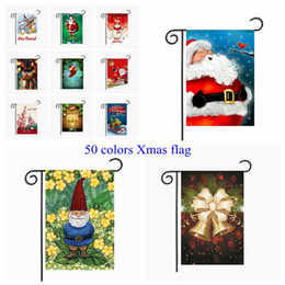 christmas house flags 2018 50 colors christmas garden flags 3045cm outdoor hanging polyester