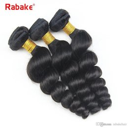 wavy hair extensions for black women 2019 - 8A Brazilian Virgin Hair Wavy Loose Wave Bundles Rabake Brazilian Human Hair Extensions 100% Unprocessed for Black Women