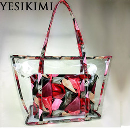 $enCountryForm.capitalKeyWord Canada - YESIKIMI 2017 Summer Beach Tote Large Size Quality PVC Colorful Printing Purse Clear Beach Bags With Inner Bag Women Handbags