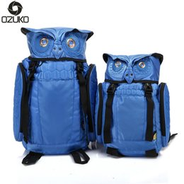 China 2017 Newest Stylish Cool Owl Backpack Cartoon Cute Laptop Backpack Waterproof for Women Men Travel Rucksack Size L   S cheap cute cooler bags suppliers