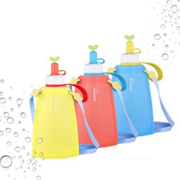 SportS direct kidS online shopping - Children Kids Water Bag Bottle Silicon  Rope Foldable Cup Portable 414d40b06
