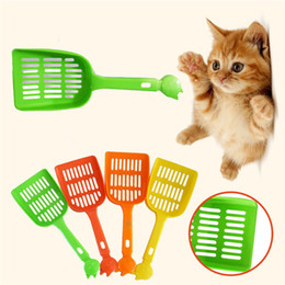 Plastique Pet fécal Nettoyage Spade Tabouret Pelle Multi Color Litière Pelle chiens Cat Hot Vente T1I587 en Solde