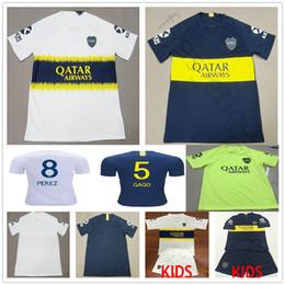c88a457afdd 2018 2019 Boca Juniors Soccer Jersey 8 Perez 5 Gago Benedetto 7 Pavon 10  Carlitos TEVEZ Custom Home Away Adult Kids Football Shirt