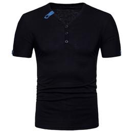 $enCountryForm.capitalKeyWord Australia - 2018 Men's Running T Shirt Men Summer Short Sleeve V-Neck Black Tank Top Button Fitness Gym shirts Mens Basketball yoga Clothing