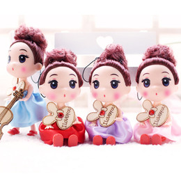Big Keys Plastic Australia - Korean version of 12cm confusingly Action figures baked sweet cakes decorated nude lol dolls mold enamel doll key pendant dolls kids toys