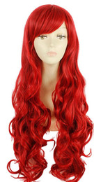 Who Framed Roger Rabbit Jessica Cosplay Wig Red Wavy Wave Curly Hair Women Wigs