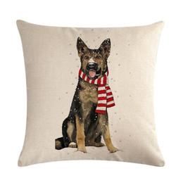 $enCountryForm.capitalKeyWord UK - Christmas series cushion cover linen pillow case 45cm square dog doggy series sketch smooth touch festival decor sofa shop bench no filling