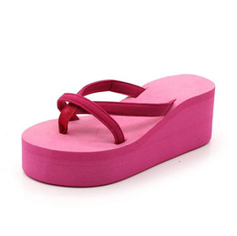 $enCountryForm.capitalKeyWord UK - WHOLESALE PRICE Summer Women Flip Flops Fashion Beach Women's Slippers Wedges Casual Women Flat Platform Sandals Plus Big Size:34-43