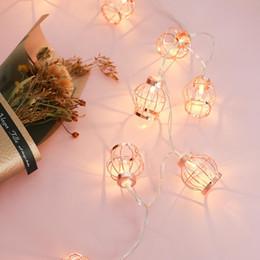 $enCountryForm.capitalKeyWord Australia - Rose Gold LED Light String Outdoor Holiday Lights Balcony Chandelier Bedroom Wedding Party Decoration Birdcage Night Lights