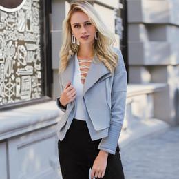 Lily Rosie Girl Gray Zipper Suede Faux Leather Jacket Women Autumn Winter Black Basic Jackets Casual Outwear Slim Coat 2017 L18100904
