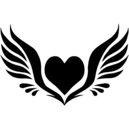 $enCountryForm.capitalKeyWord NZ - Angel Wings Heart Home Decor Car Truck Window Decal Sticker Rear Window Car Sticker Modern Decal