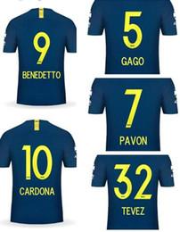 Fan customize online shopping - Customized TEVEZ GAGO PAVON BENEDETTO CARDONA ABILA Thai Quality Soccer jersey fan shop online store for sale custom