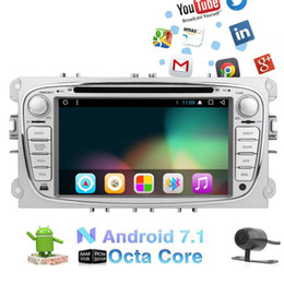 Ford Touch Screen Stereo NZ - Backup Camera 7'' Android 7.1 Octa-core GPS Car Stereo System HeadUnit Double din Car dvd Player For Ford Focus Mondeo Autoradio GPS