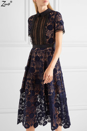 Spring Water Quality Canada - High Quality Custom Self Portrait Spring 2017 Runway Fashion Designer Hollow Three Dimensional Flower Water Soluble Lace Dress