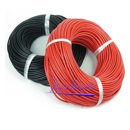 Chinese  1 2 5 10M Silicone Wire Cable 12 14 16 18 20 22 AWG For RC Auto Car Wiring manufacturers