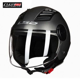 $enCountryForm.capitalKeyWord NZ - LS2 OF562 AIRFLOW L Jet Helmet Motorcycle 2018 New Style 3 4 Open Face Half Helmets Scooter Capacetes Light Weight