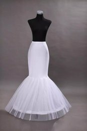 TrumpeTs for online shopping - 2018 Cheap One Hoop Petticoat Crinoline for Mermaid Wedding Dresses Flounced Mermaid Petticoat Slip Bridal Accessories