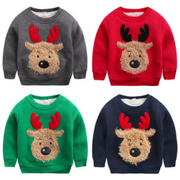 bd788125b7 BaBy Boy jumper pullover sweater winter online shopping - Boys Christmas  Deer Elk Print Hoodies Kids