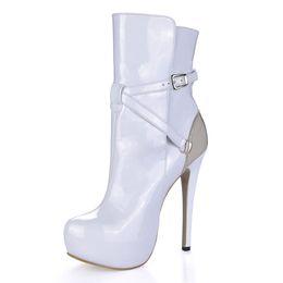 $enCountryForm.capitalKeyWord UK - 14cm High Heels 3cm Platform White Women Short Boots Winter Fashion Luxury Designer's Women Boots Sexy Fashion Party and Dress Boots Women