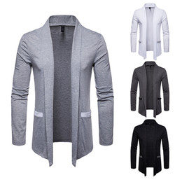 Wholesale men s wool trench coats for sale - Group buy Men Casual Cardigans Hot Sale Long Autumn Slim Fit Sweaters Solid Color Plus Size Winter Cardigan Men Trench Coat Men s Clothing