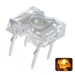 $enCountryForm.capitalKeyWord Australia - 100 pcs 3mm Piranha Yellow LED Diode Lights Lighting Bulb Lamps Electronics Components Light Emitting Diodes