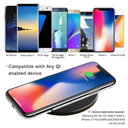 $enCountryForm.capitalKeyWord Canada - New GY68 Qi Wireless Charger For iPhone X 8 Plus Samsung Galaxy Note 8 S8 S7 S6 Edge Desktop Fast Wireless Charging Pad